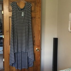 NWT Torrid Gray & Black striped Hi Lo Dress size 2